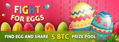 find egg and share 5BTC prize pool