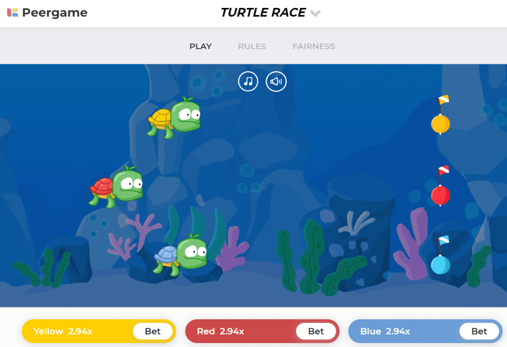 turtle race game screenshot