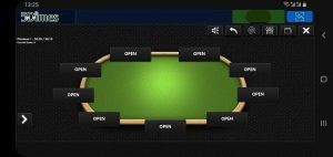 5dimes.eu poker table on mobile