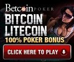 best BTC poker