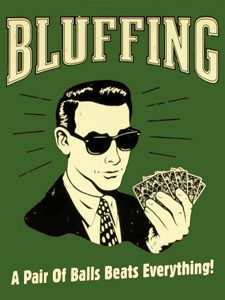 bitcoin poker bluffing