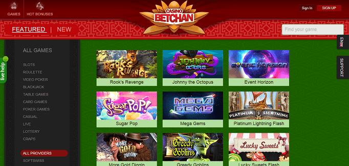 Betchan homepage