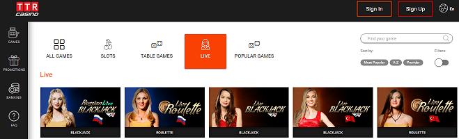 bitcoin casino review: TTR.casino