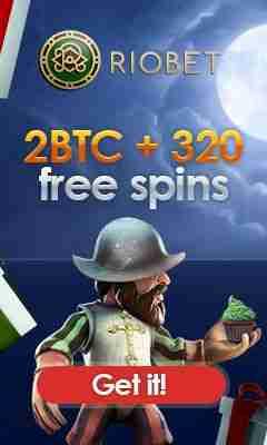 Riobet bonus: 2BTC + 320 free spins