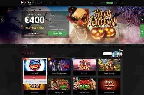Bitstarz homepage - Halloween cash back