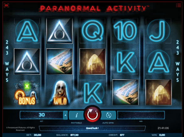 Paranormal Activity - 7BitCasino.com