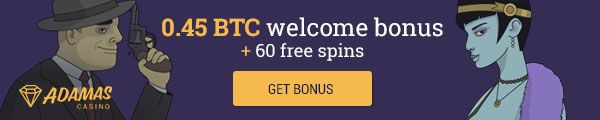 adamas casino 0,45 BTC welcome bonus