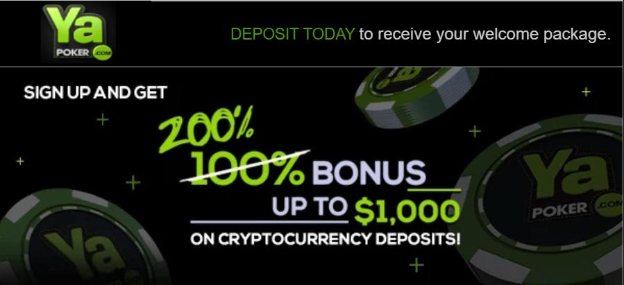 ya poker crypto bonus
